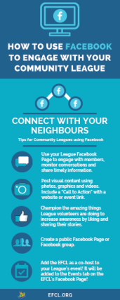 How to Use Facebook for Community Leagues [infographic]