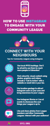 How to Use Instagram for Community Leagues [infographic]